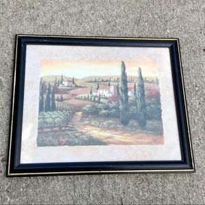 Vivian Flasch Tuscany poppy fields framed print
